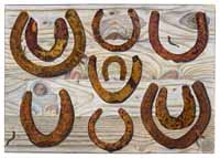 Rusty Horse Shoes