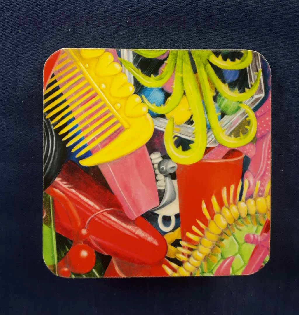 Squashed Christmas Cracker Toys - Yellow Comb